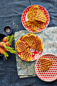 Carrot and cheese waffles