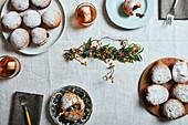 Jam doughnuts for Hanukkah