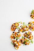 Toasties with roasted vegetable