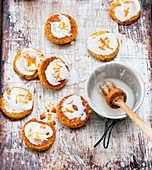 Iced orange biscuits