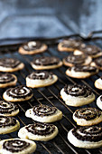 Poppyseed spiral biscuits