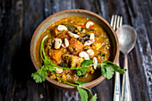 Sweet homemade curry with sweetpotatoe