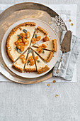 Kumquat Cheesecake with Spicy Biscuits