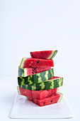 Stacked watermelon slices