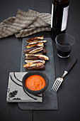 Roasted Eggplant with Romesco Sauce (Spain)