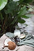 Hausgemachte Kokoscreme in Schraubglas