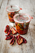 Dried tomatoes preserved in red wine vinegar