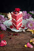 A sweet red velvet layer cake