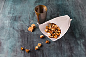 Selbstgemachtes Karamell-Popcorn