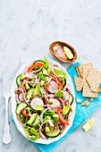 Beef mexican salad (salpicón)