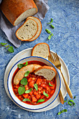 Goulash with chickpeas and sausage