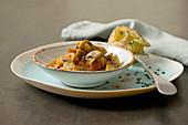 Champignon-Gulasch mit Kartoffel