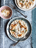 Risotto with caramelised onions and rosemary