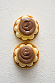 Coffee tarts with mascarpone cream