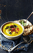Roast cauliflower dhal soup