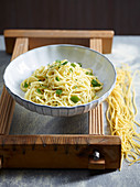 Spaghetti alla Chitarra with Lime, Mint and Ginger