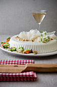 Grana Padano Cheese Cream Pudding with Vegetables and Taralli Bread Crumbs