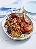 Caramelised Pork Cutlets with Cracked Wheat Salad