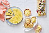 Kuchen und Gebäck mit Lemon Curd