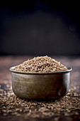Cumin Seeds in a Metal bowl
