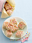 Marshmallow rice bubble bars