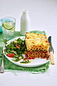 Pastitsio with cheese crust