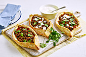 Turkish lamb, tomato and capsicum pide
