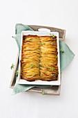 Crunchy potato gratin