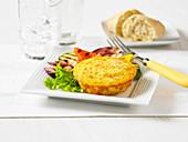 Frittata mit Kartoffeln, Schinken und Käse