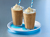 Chocolate shakes with maple syrup