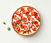 Strawberry tart with ricotta cream