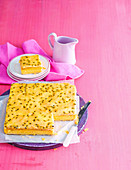 Vanilla Slice with passionfruit pulp