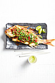 Thai crispy whole snapper with tamarin sauce