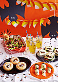 Gruseliges Buffet für Halloween