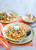 Zucchini Pasta with Sun-dried Tomato Pesto