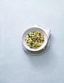 Vanilla millet with broccoli