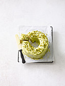 Lemon wreath with avocado frosting