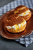 Choux puffs - profiteroles with crunchy tops from Singapore