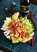 Salmon Donburi - a sushi bowl from Singapore