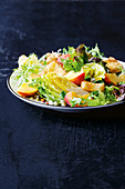 Peach and fried feat salad