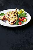 Baked moussaka eggplant