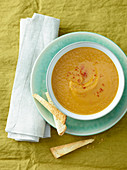 Creamy Pumpkin, Chickpea and Pear Soup