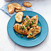 Mediterranean style grilled chicken breast fillets