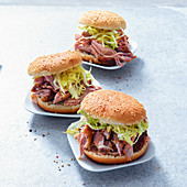 Grilled pulled pork burgers