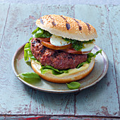A grilled Italian burger