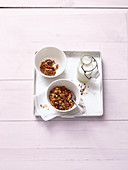 Chocolate granola with oriental spices