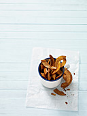Spicy coconut chips with paprika and turmeric