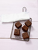 Chocolate brownies made with sweet potatoes