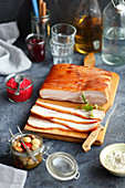 Baked pork belly