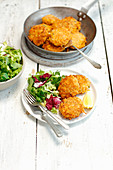 Pumpkin and barley fritters